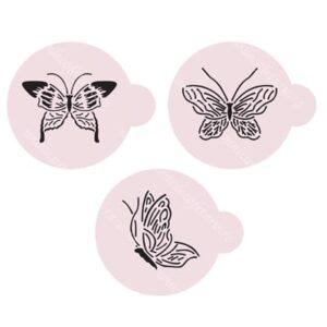 Set 3 sabloane fluturi