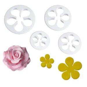 Decupatoare trandafiri set 4 piese
