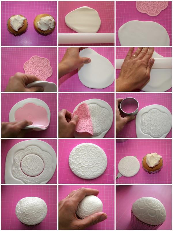 Cupcakes dantelate