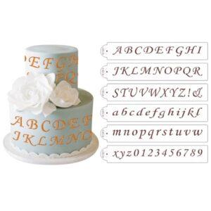 Sabloane litere caligrafice si cifre